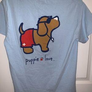 Tops - Puppy Love Life Guard Tee Shirt
